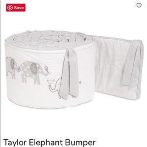 Pottery Barn Taylor Elephant Baby Crib Bumper